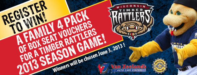Register to Win 2013 Timber Rattlers Tickets